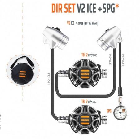 TECLINE V2 ICE / TEC 2 - Pack détendeur DIR - TECLINE