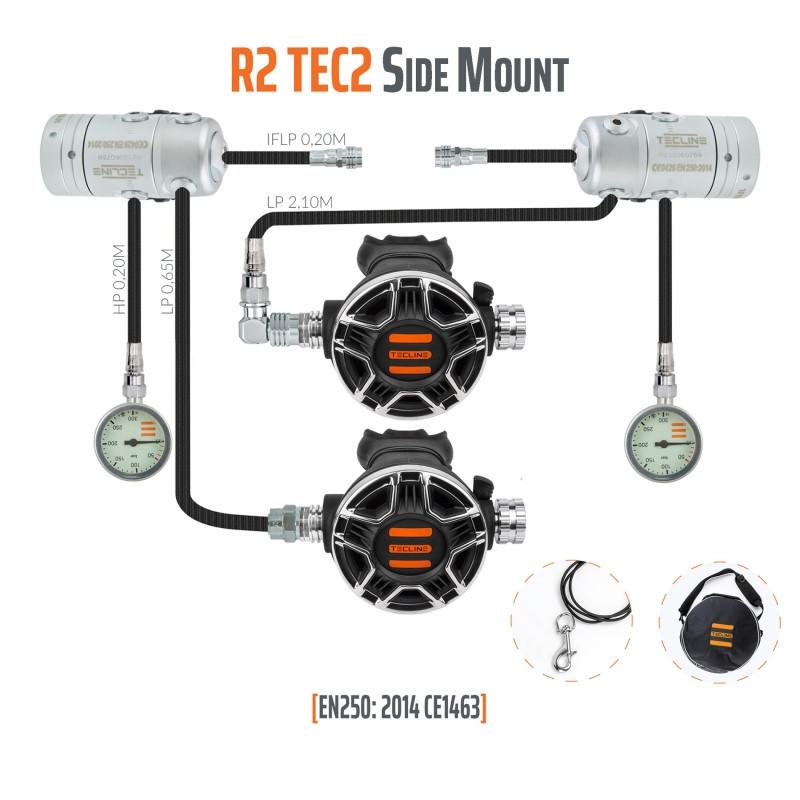 TECLINE R2 / TEC2 scuba regulator pack « SIDEMOUNT» - TECLINE