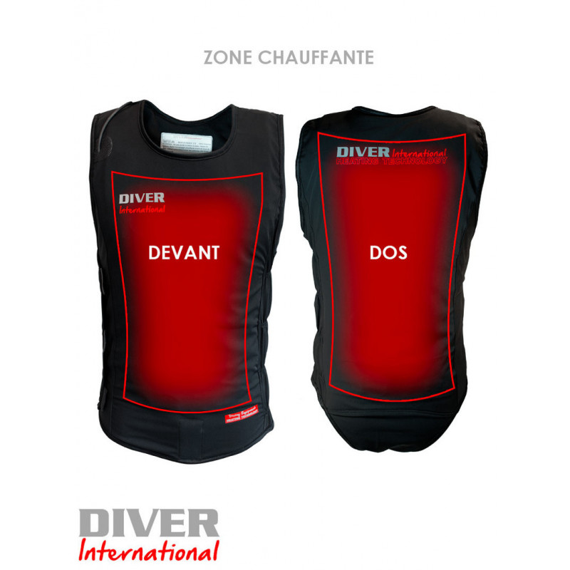Diving heating jacket for wetsuit FH1420