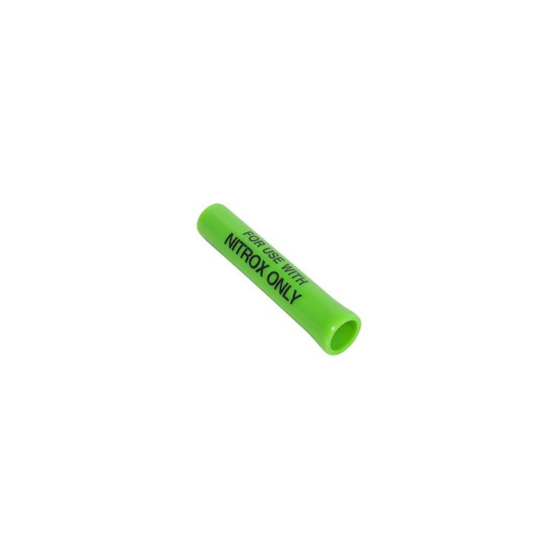 Scuba hose protector with NITROX ONLY mark
