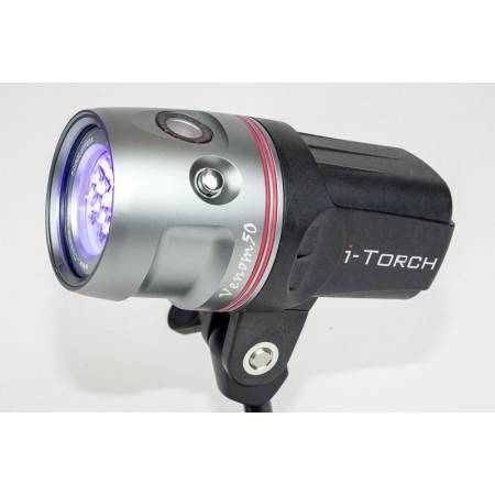 Head only for I-Torch Venom 50 - 5000Lm at 120°+ red LED + UV