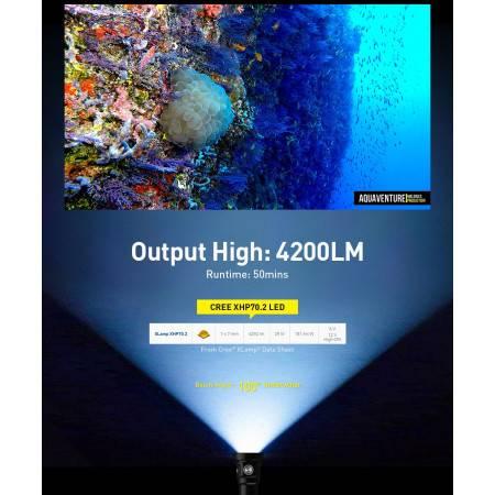 copy of Diving light DIVEPRO D5-3 1150Lm 10°