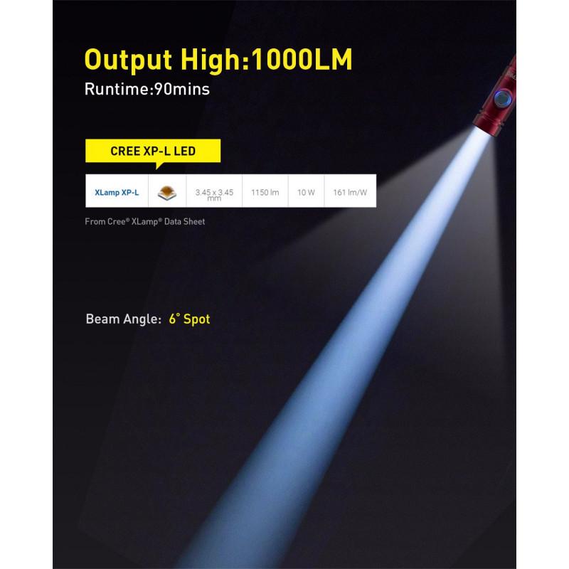 Underwater diving light DIVEPRO S10 1000Lm 6°