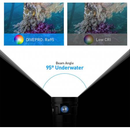 Phare de plongée DIVEPRO MASTER 8000Lm - 95°
