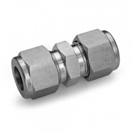 Union double égale en INOX pour tube de Ø8mm