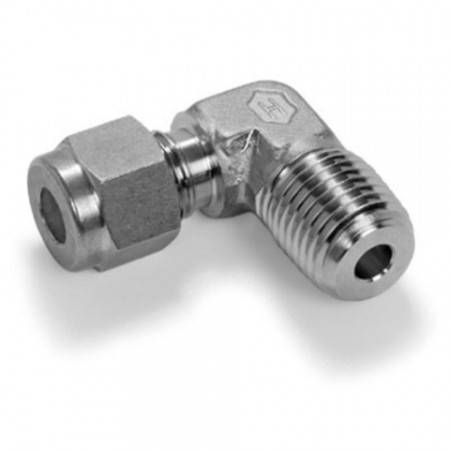 Stainless steel equal union elbow for Ø6mm tube