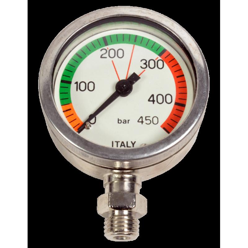 Manomètre 0-450bars immergeable diamètre 52mm