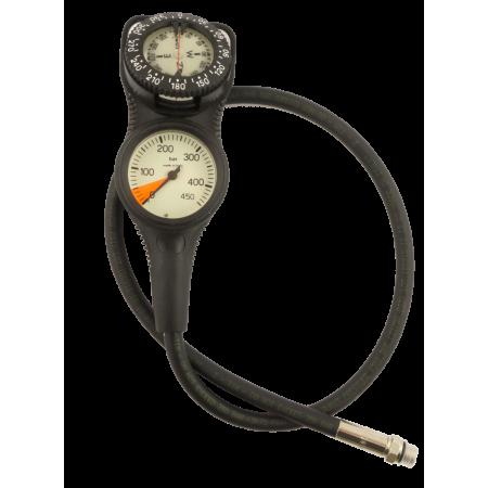 Console manomètre 0-450bar et compas