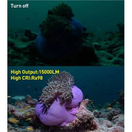 DIVEPRO G15 Underwater video dive light 15000Lm 140°