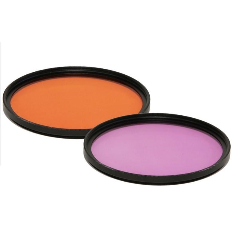 Filtre orange ou magenta à visser en M67 mâle