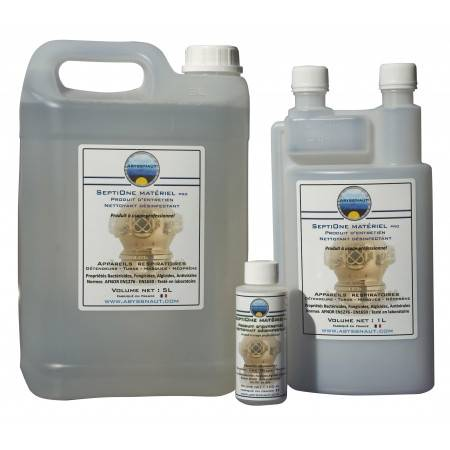 Désinfectant détendeur et matériel de plongee SEPTIONE PRO ABYSSNAUT