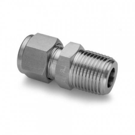Straight male 1/4 NPT STAINLESS STEEL union for Ø8mm tube
