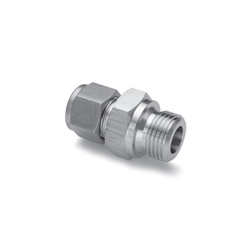 Union droit mâle 1/4 BSPP en INOX pour tube de Ø6mm