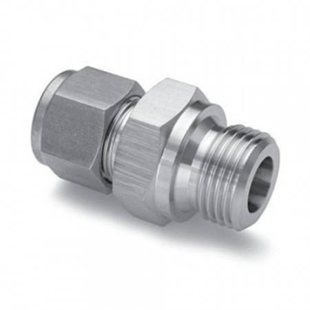 Straight union male 1/4 BSPP STAINLESS STEEL for Ø6mm tube