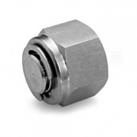 316L stainless steel plug for 6mm diameter connector