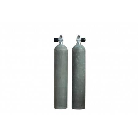 Bouteille de plongée aluminium 11.1L S80 200bar MES brute