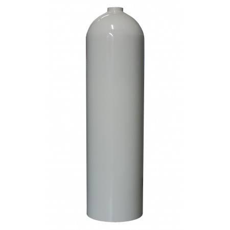 Bouteille de plongée aluminium 11.1L S80 200bar MES blanche