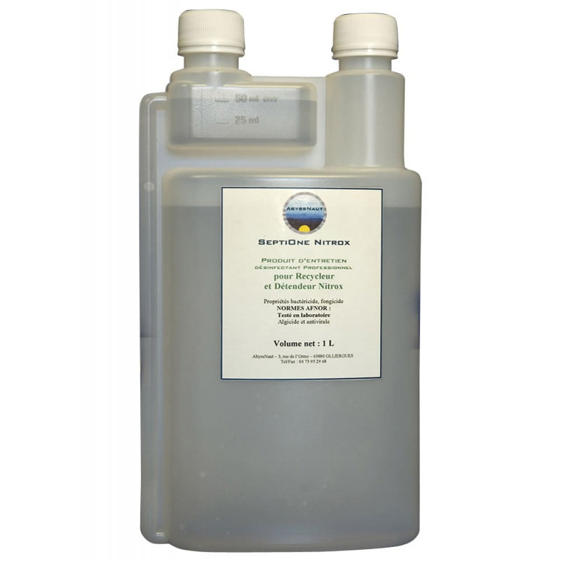 Disinfectant for diving rebreathers and nitrox regulators SEPTIONE NITROX ABYSSNAUT