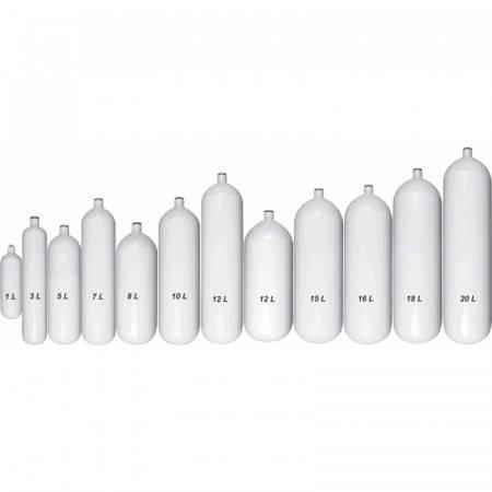 10 liter steel tank 232bar naked
