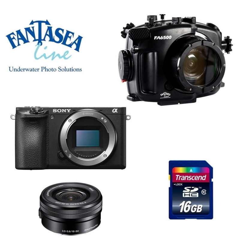 Pack Caisson Fantasea + Sony A6500 +16-50mm