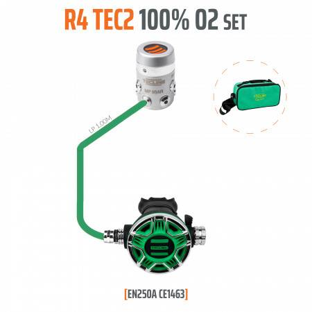 Diving regulator oxygen pack R4-TEC2 O2 M26 - TECLINE