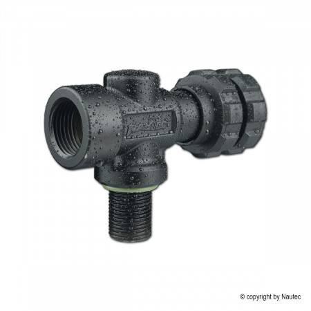 Cylinder valve NAUTEC DARKLINE SH DIN 232bar AIR M18x1.5