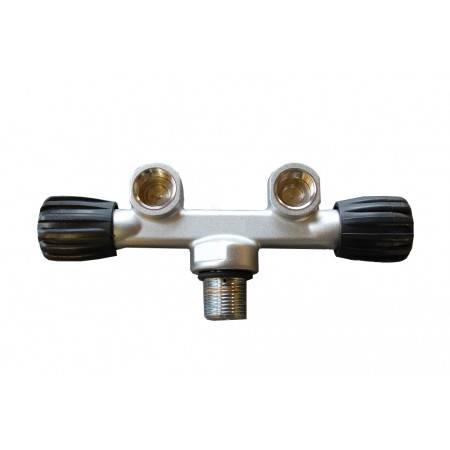 Double valve H AIR DIN 232 bars M25x2