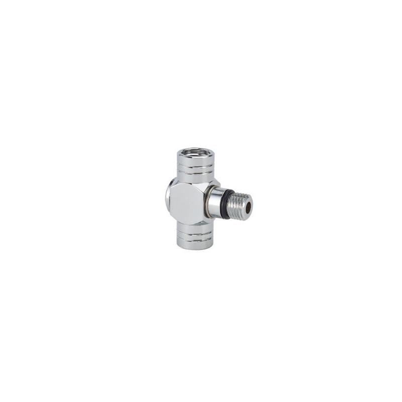 Low pressure port adaptor 360° - 2 horizontal outputs 3/8-24