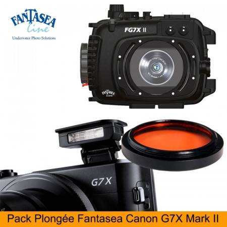 Pack Fantasea housing + Canon G7X Mark II + SD card