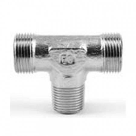 Té mâle DIN 1/4'' BSPT pour tube de 8 mm (400 bar)