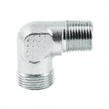 Coude mâle DIN 1/4'' BSPT pour tube de 6 mm (400 bar)