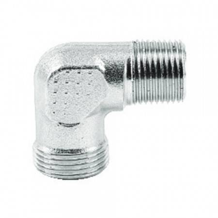 Male elbow DIN 1/4'' BSPT for 8 mm tube (315 bar)