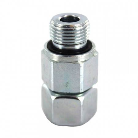 Male swivel union DIN 1/4'' Gas for 8 mm tube (800 bar)
