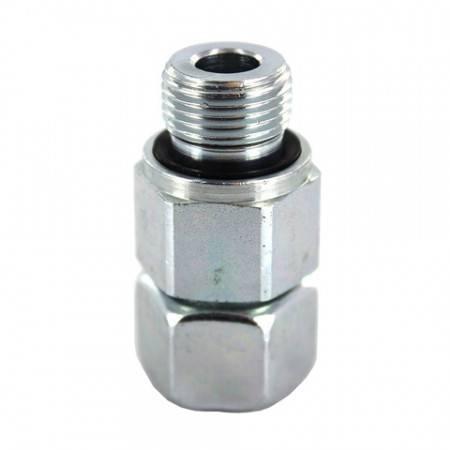 Union mâle orientable DIN 1/4'' Gaz pour tube de 8 mm (800 bar)