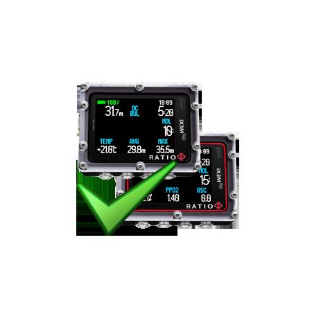 Upgrade Ratio iX3M et iDive version supérieure +1