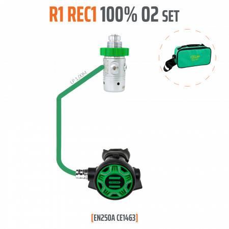 REGULATOR R1 REC1 100% O2 M26x2 TECLINE