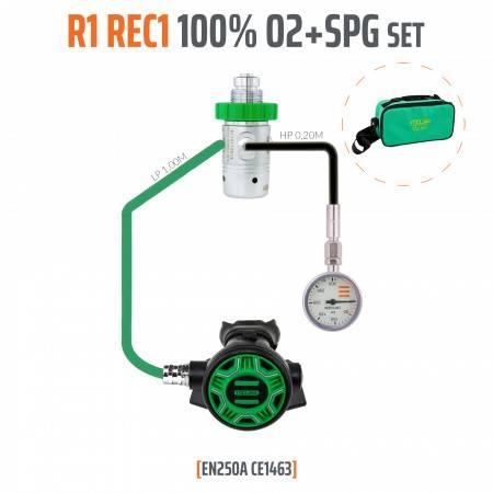 Régulateur R1 REC1 100% O2 M26x2 avec SPG TECLINE