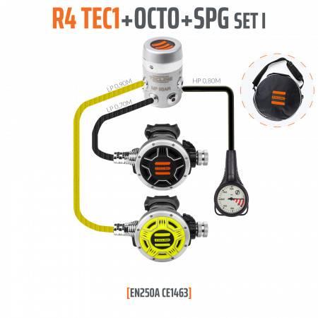 Détendeur R4 TEC1 EN250A (REG +OCTO+SPG) TECLINE