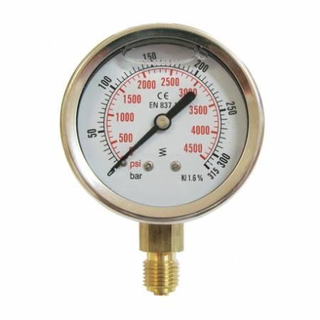 Manomètre vertical 0-315 bars D63mm
