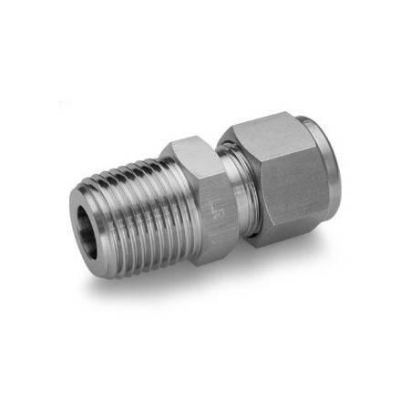 Raccord mâle INOX 450bars G1/8 BSPT pour tube de 6mm