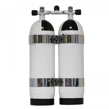 Bi-Bouteille carbone Carbondive 2x10 litres 300Bar