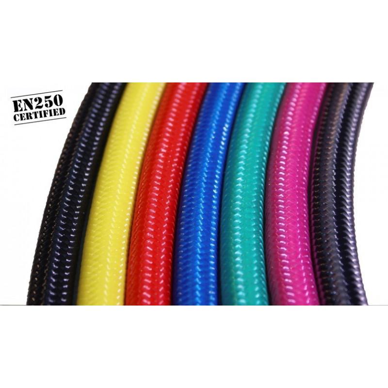 Flexible détendeur 15cm nylon tressé couleur au choix