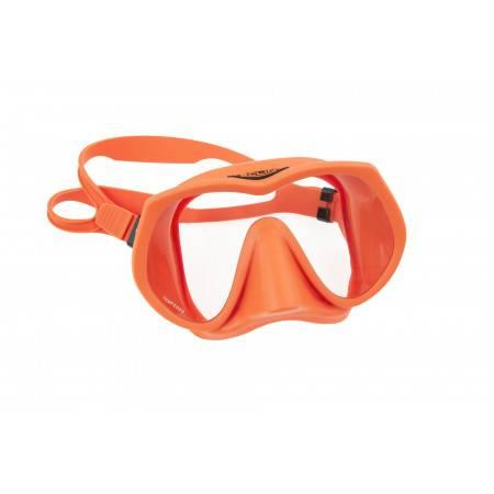Diving mask Frameless TECLINE orange color