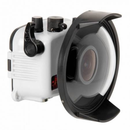 Olympus TG6 Ikelite housing with fisheye dome Fcon T02