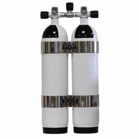 Twin 6.8 liter carbon tank Carbondive 300bar