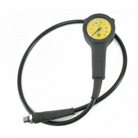POSEIDON Cirrus pressure gauge 0-450bar yellow