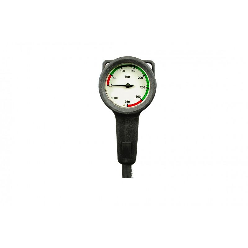 Diving pressure gauge 300bar 52mm + flex 80cm - DIVEAVENUE