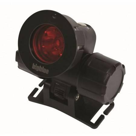 Filtre rouge pour lampe frontale Bigblue HL1000N