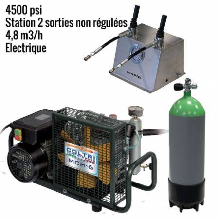 Pack MCH6 -EM Paintball 4500 psi 2 sorties