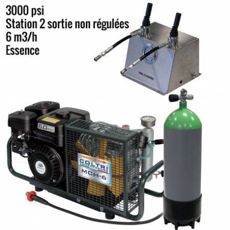 Pack MCH6 -EM Paintball 3000 psi 2 sorties